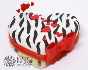 Trendy zebrasto srce