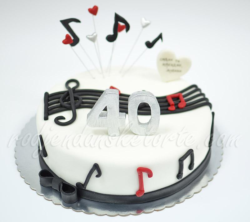 slike za 40 rođendan Svečana torta za 40. rodjendan – motivi iz notne sveske… slike za 40 rođendan